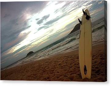 Sunset Surfing  Canvas Print by Frederico Borges