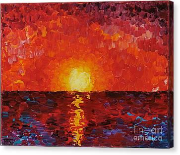 Sunset Canvas Print by Teresa Wegrzyn