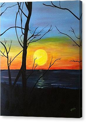 Sunset Through The Branches Canvas Print