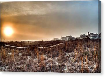 Sunset Through The Fog Canvas Print