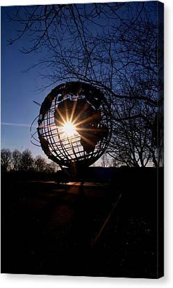 Sunset Through The Unisphere Canvas Print