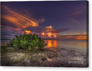 Sunset Thunder Storms Canvas Print by Marvin Spates