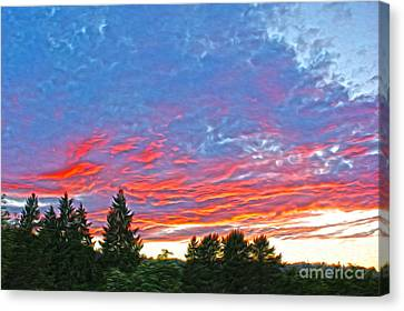 Sunset Trees Canvas Print by Nur Roy
