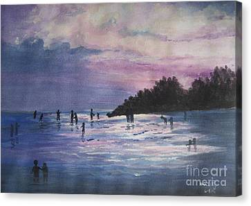 Sunset Canvas Print by Usha Rai