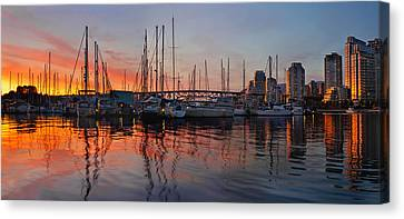 Canvas Print featuring the photograph Sunset View From Charleson Park In Vancouver Bc by JPLDesigns