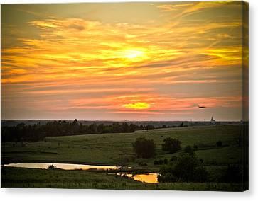 Sunset Viii Canvas Print by Tracy Salava