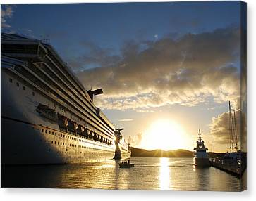 Sunset Voyage Canvas Print