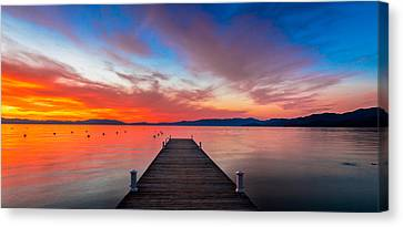 Sunset Walkway Canvas Print by Edgars Erglis