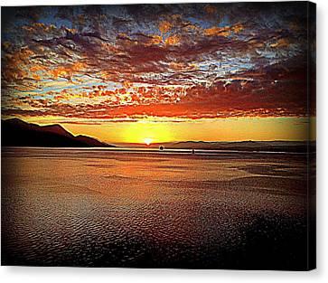 Sunset While Cruising The World Canvas Print by John Potts