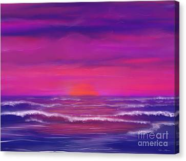 Sunset Winds Canvas Print by Roxy Riou