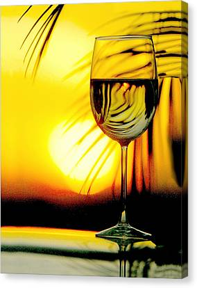 Sunset Wine Canvas Print by Jon Neidert