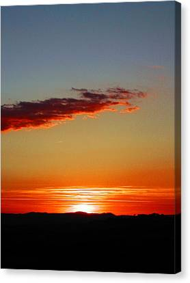 Sunset With Lines Canvas Print by Dorothy Berry-Lound