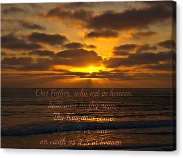 Sunset With Prayer Canvas Print by Sharon Soberon