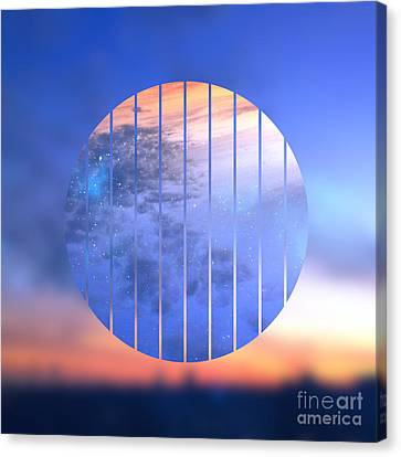 Sunset With Starry Starry Night Sky Canvas Print by Beverly Claire Kaiya