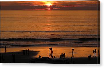 Sunset Worship Canvas Print by Charles Ables