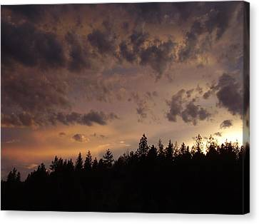 Sunset Canvas Print by Yvette Pichette