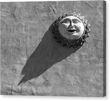 Sunshadow Bw Canvas Print by Elizabeth Sullivan