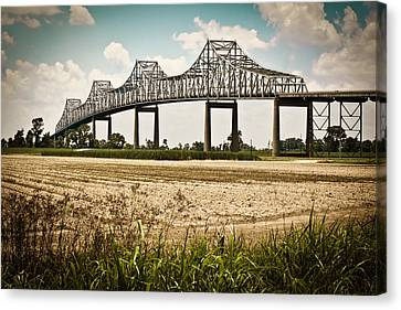 Sunshine Bridge Mississippi Bridge Canvas Print