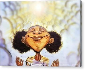 Sunshine Girl Canvas Print by Tu-Kwon Thomas
