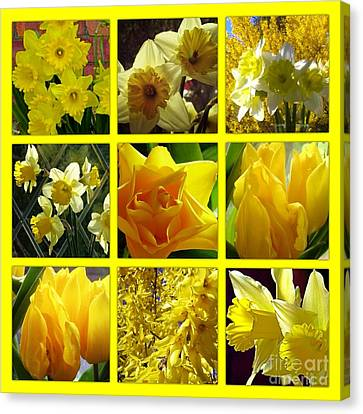 Sunshine Gold Picture Window Canvas Print