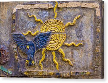 Sunshine Loving A Bluebird Canvas Print by Omaste Witkowski