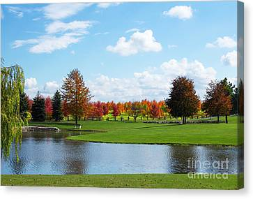 Sunshine On A Country Estate Canvas Print by Barbara McMahon