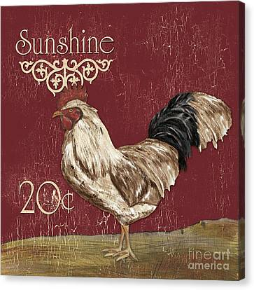 Sunshine Rooster Canvas Print