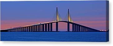 Sunshine Skyway At Dusk II Canvas Print