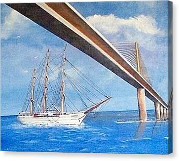 Sunshine Skyway Bridge  Canvas Print