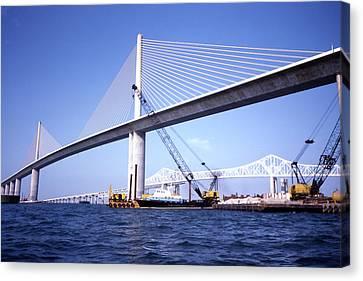 Florida Bridge Canvas Print - Sunshine Skyway Bridge by Richard Rizzo