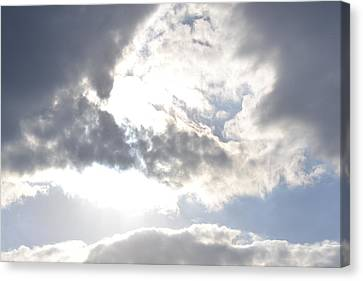 Canvas Print featuring the photograph Sunshine Through The Clouds by Tara Potts