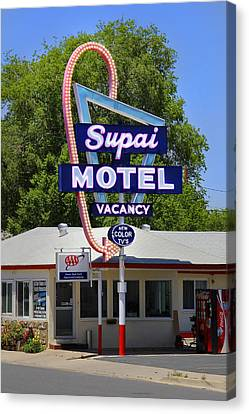 Supai Motel - Seligman Canvas Print by Mike McGlothlen
