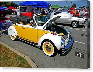 Super Beetle -- A Bug At A Car Show Canvas Print