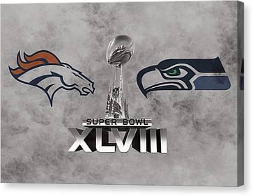 New York Mets Stadium Canvas Print - Super Bowl Xlvlll by Joe Hamilton