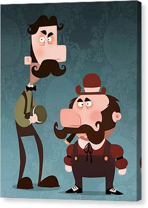 Super Bros. Canvas Print by Adam Ford
