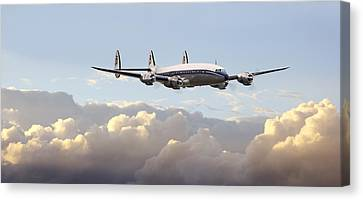 Super Constellation - End Of An Era Canvas Print by Pat Speirs