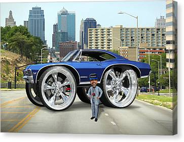 Super Duper Big Wheels Canvas Print