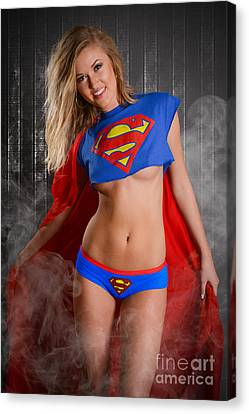 Super Girl Canvas Print - Super Girl by Jt PhotoDesign