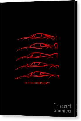 Super Macchina Silhouettehistory Canvas Print by Gabor Vida