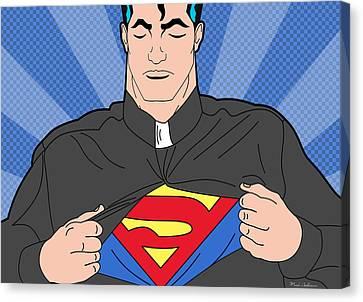 Super Man 8 Canvas Print by Mark Ashkenazi