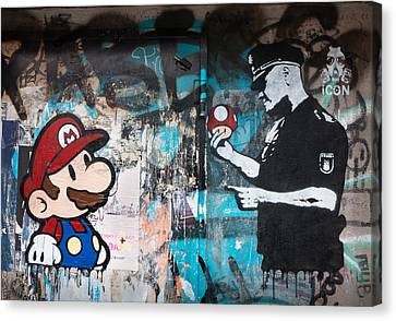 Graffiti Canvas Print - Super Mario by Pedro Nunez