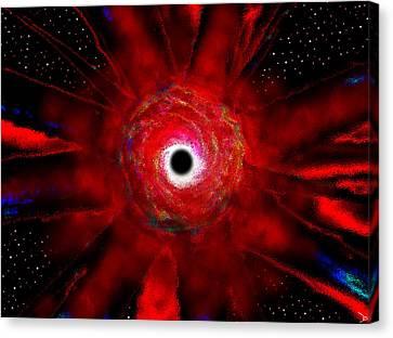 Cosmology Canvas Print - Super Massive Black Hole by David Lee Thompson