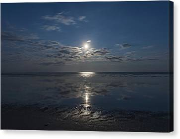 Super Moon Burst Sea Isle City Nj  Canvas Print by Terry DeLuco