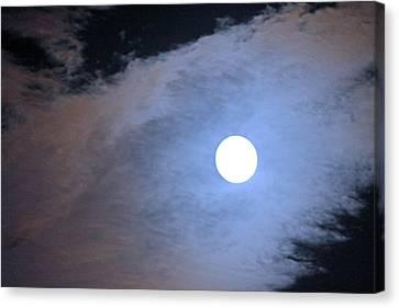 Super Moon Canvas Print by Carolyn Ricks