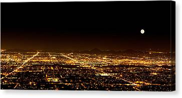 Super Moon Over Phoenix Arizona  Canvas Print by Susan Schmitz