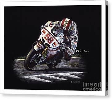 Racing Canvas Print - Super Sic by Robin DaSilva