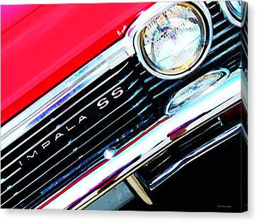 Super Sport 2 - Chevy Impala Classic Car Canvas Print by Sharon Cummings