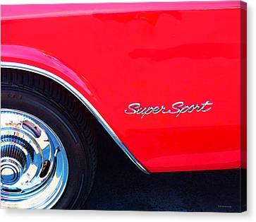 Super Sport - Chevy Impala Classic Car Canvas Print by Sharon Cummings