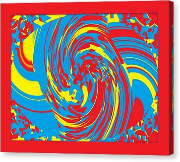 Canvas Print featuring the painting Super Swirl by Catherine Lott