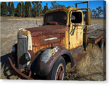 Super White Truck Canvas Print by Garry Gay